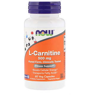 Now Foods, L-Carnitina, 500 mg, 60 Cápsulas vegetarianas