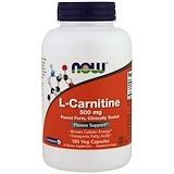 Отзывы о Now Foods, L-карнитин, 500 мг, 180 капсул в растительной оболочке