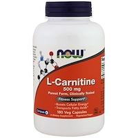 L-карнитин, 500 мг, 180 капсул в растительной оболочке - фото