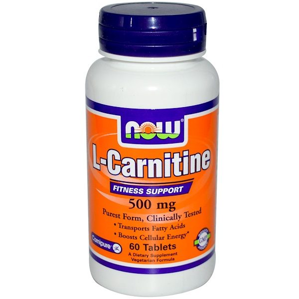 Now Foods, L-Carnitine, 500 mg, 60 Tablets (Discontinued Item)