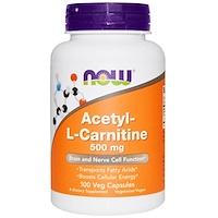 Ацетил-L-карнитин, 500мг, 100растительных капсул - фото