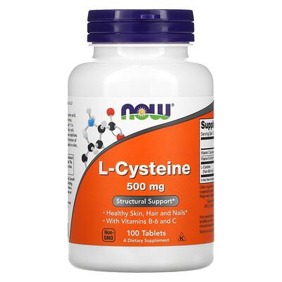 Купить Now Foods L-цистеин, 500 мг, 100 таблеток