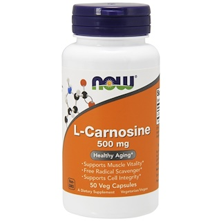Now Foods, L-Carnosine, 500 mg, 50 Veg Capsules