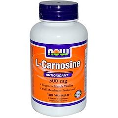Now Foods, L-Carnosine, 500 mg, 100 Veg Capsules