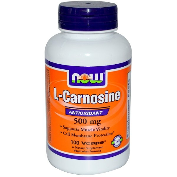 Now Foods, L-Carnosina, 500 mg, 100 cápsulas vegetarianas