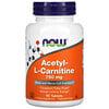 Now Foods, Acetil-L-Carnitina, 750 mg, 90 comprimidos