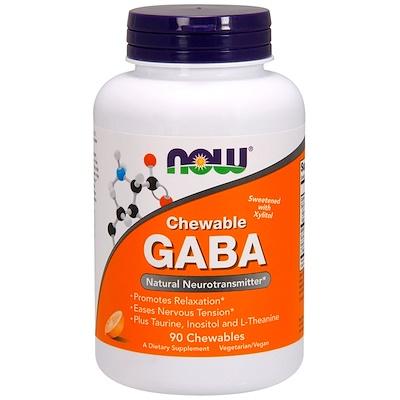 ГАМК в форме жевательных таблеток, натуральный ароматизатор «апельсин», 90жевательных таблеток
