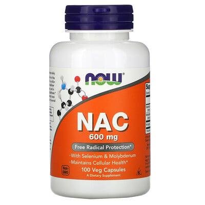 Now Foods NAC (N-ацетилцистеин), 600мг, 100растительных капсул