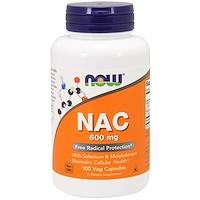 NAC (N-ацетил-цистеин), 600 мг, 100 растительных капсул - фото