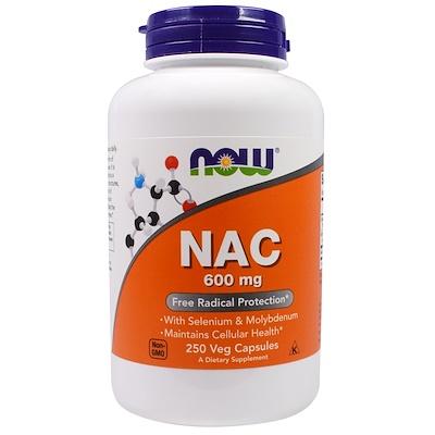 Купить NAC, 600 мг, 250 растительных капсул