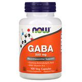 Now Foods, GABA,500毫克,100素食膠囊