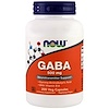 Now Foods, GABA, 500 mg, 200 Cápsulas