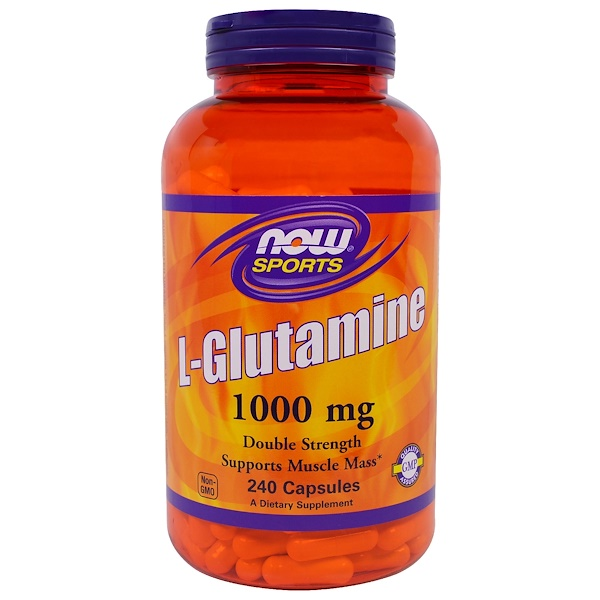 Sports, L-Glutamine, 1,000 mg, 240 Capsules