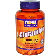 Now Foods, L-Glutamine, Double Strength, 1,000 mg, 120 Capsules