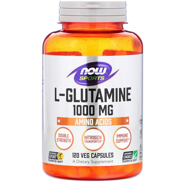 L-Glutamine, Double Strength, 1,000 mg, 120 Veg Capsules
