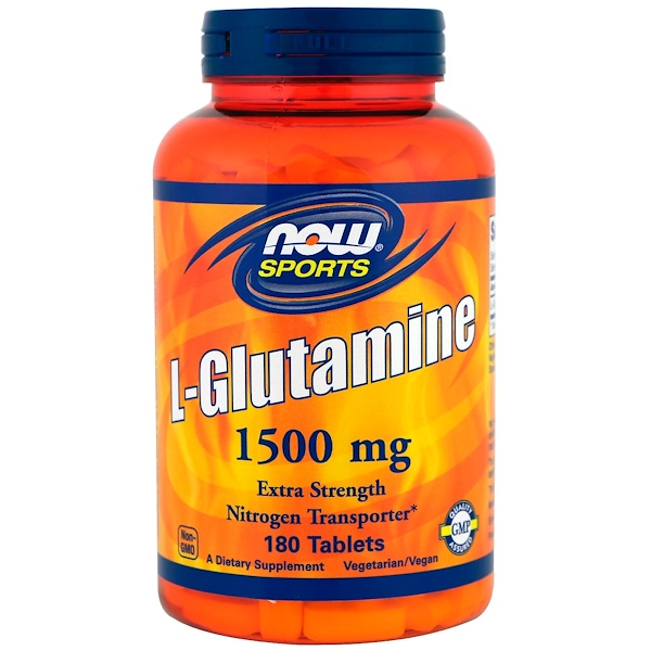 Now Foods, Sports, L-Glutamine, 1,500 mg, 180 Tablets (Discontinued Item)