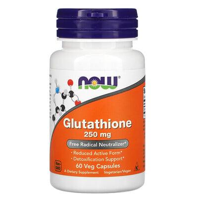 Купить Now Foods глутатион, 250мг, 60растительных капсул