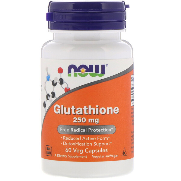Now Foods, Glutathione, 250 mg, 60 Veg Capsules