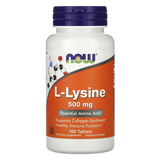 Now Foods, L-Lysine, 500 mg, 100 Tablets