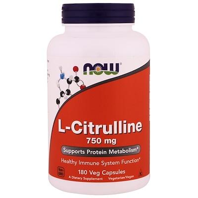 Купить L-цитрулин, 750 мг, 180 капсул в растительной оболочке