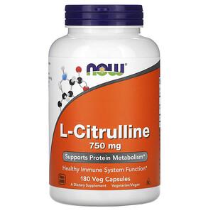 Now Foods, L-Citrulline, 750 mg, 180  Veg Capsules отзывы