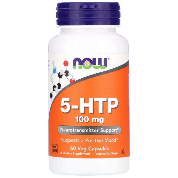 Now Foods, 5-HTP, 100 mg, 60 cápsulas vegetales