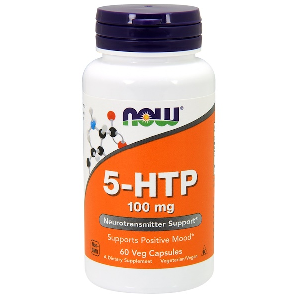 Now Foods, 5-HTP, 100 mg, 60 Cápsulas