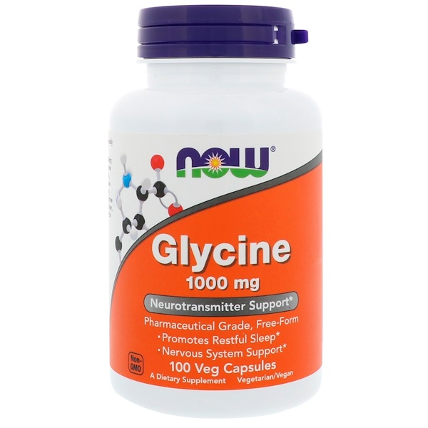 Now Foods, Glycine, 1,000 mg, 100 Veg Capsules