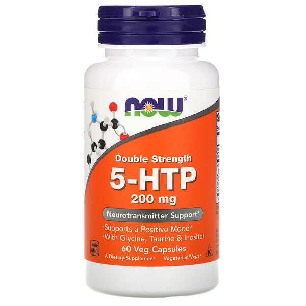 Now Foods, 5-HTP, Double force, 200 mg, 60 capsules végétariennes