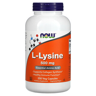 Now Foods, L-Lysine, 500 mg, 250 Veg Capsules