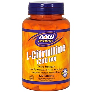 Now Foods, L-citrulline, extra force, 1 200 mg, 120 comprimés
