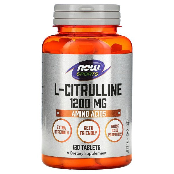 Now Foods, L-Citrulline, 1,200 mg, 120 Tablets