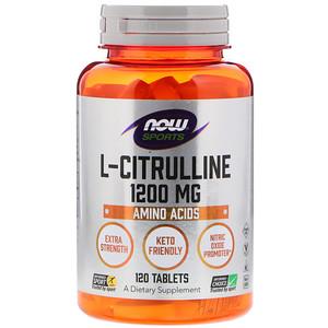 Now Foods, L-Citrulline, 1,200 mg, 120 Tablets отзывы