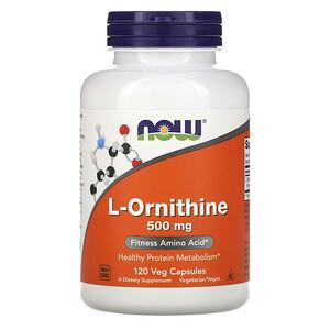 Now Foods, L-Ornithine, 500 mg, 120 Veg Capsules отзывы покупателей