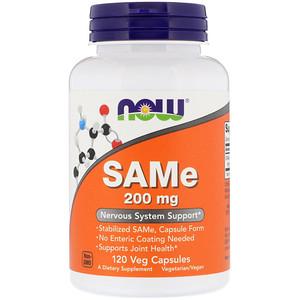 Now Foods, SAMe, 200 mg, 120 Veg Capsules отзывы покупателей