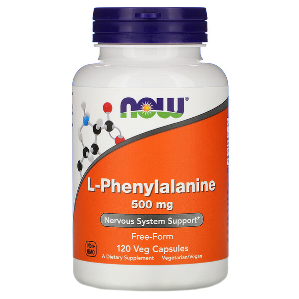 Now Foods, L-Phenylalanine, 500 mg, 120 Veg Capsules