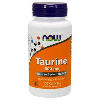 Now Foods, Taurina, 500 mg, 100 Cápsulas