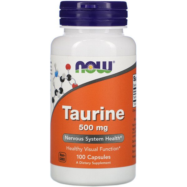 Now Foods, Taurine, 500 mg, 100 gélules