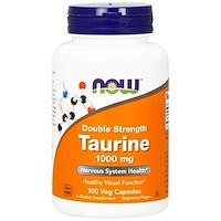 Таурин, двойная сила, 1000 мг, 100 растительных капсул - фото