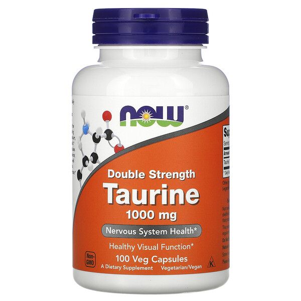 Taurine, Double Strength, 1,000 mg, 100 Veg Capsules