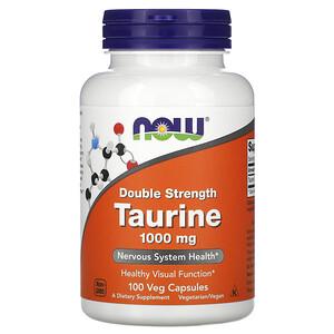 Now Foods, Taurine, Double Strength, 1,000 mg, 100 Veg Capsules отзывы