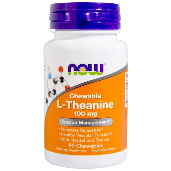 L-Theanine, 100 mg, 90 Chewables