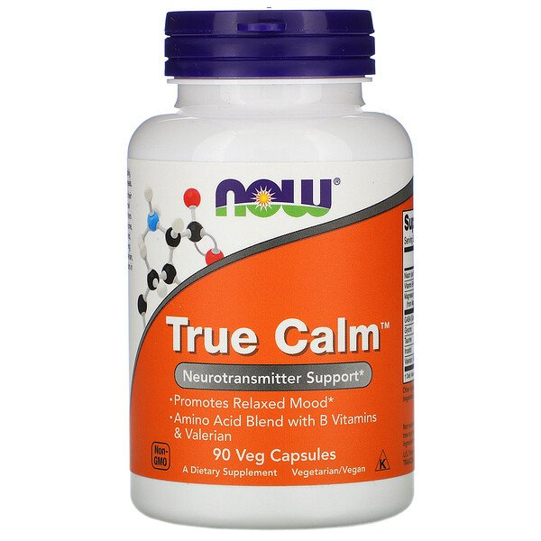 Now Foods, True Calm, 90 Veg Capsules