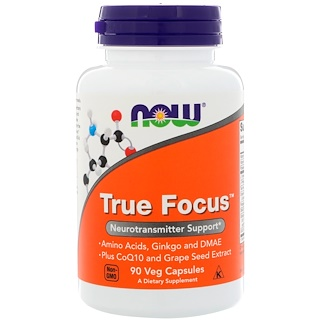 Now Foods, True Focus, 90 Cápsulas Vegetarianas