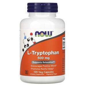 Now Foods, L-Tryptophan, 500 mg, 120 Veg Caps отзывы покупателей