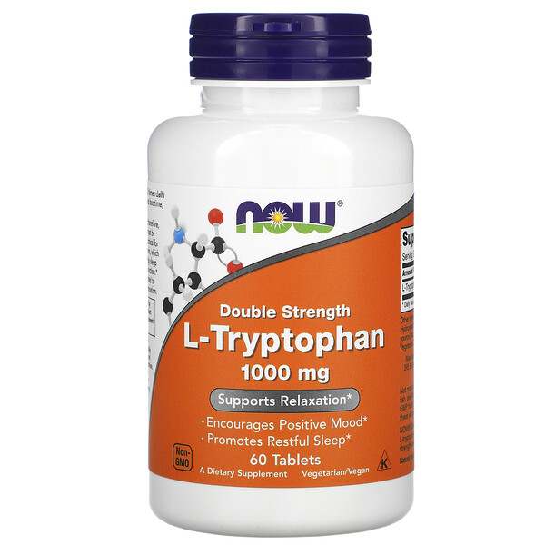 L-Tryptophan, Double Strength, 1,000 mg, 60 Tablets