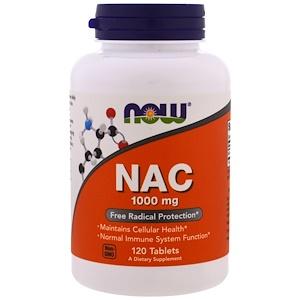 Now Foods, NAC, 1000 мг, 120 таблеток инструкция, применение, состав, противопоказания