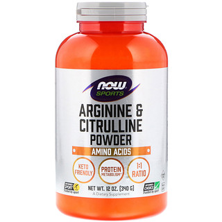 Now Foods, Sports, Arginine & Citrulline Powder, 12 oz (340 g)