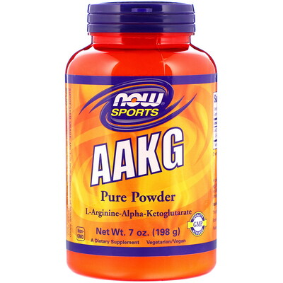 Sports, AAKG Pure Powder, 7 oz (198 g) sports aakg pure powder 7 oz 198 g
