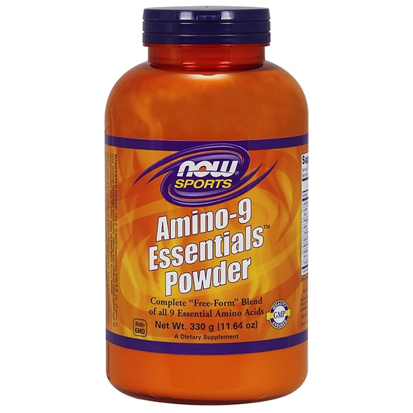 Now Foods, 運動,Amino-9必需粉,11、64盎司(330克)